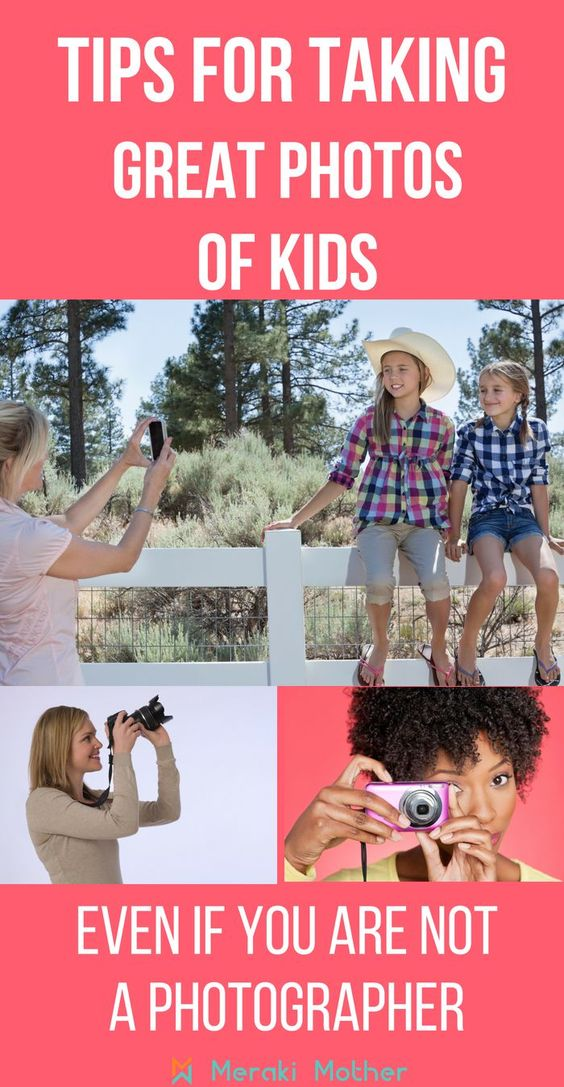 How to take photographs of children