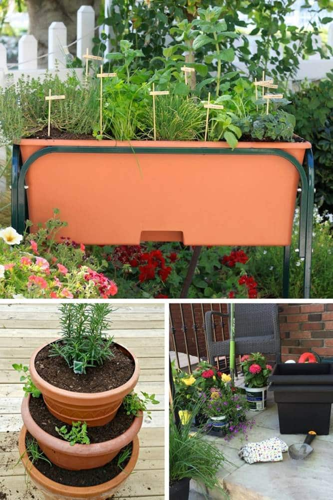outdoor plant containers