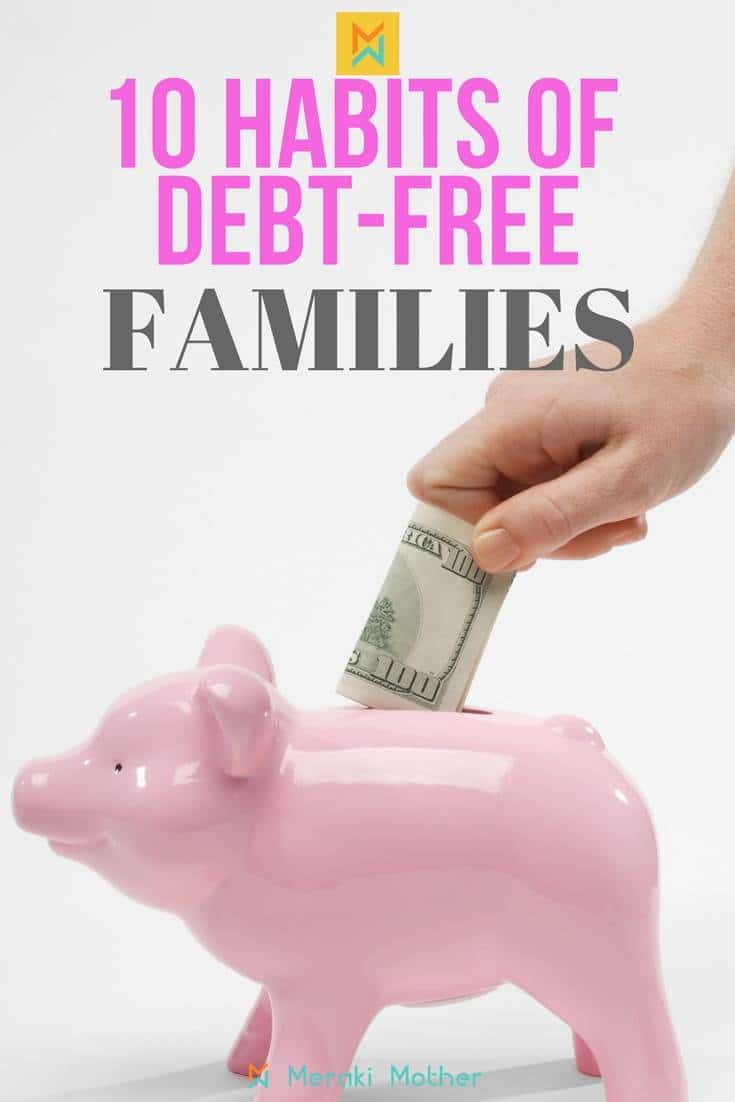habit of debt free families