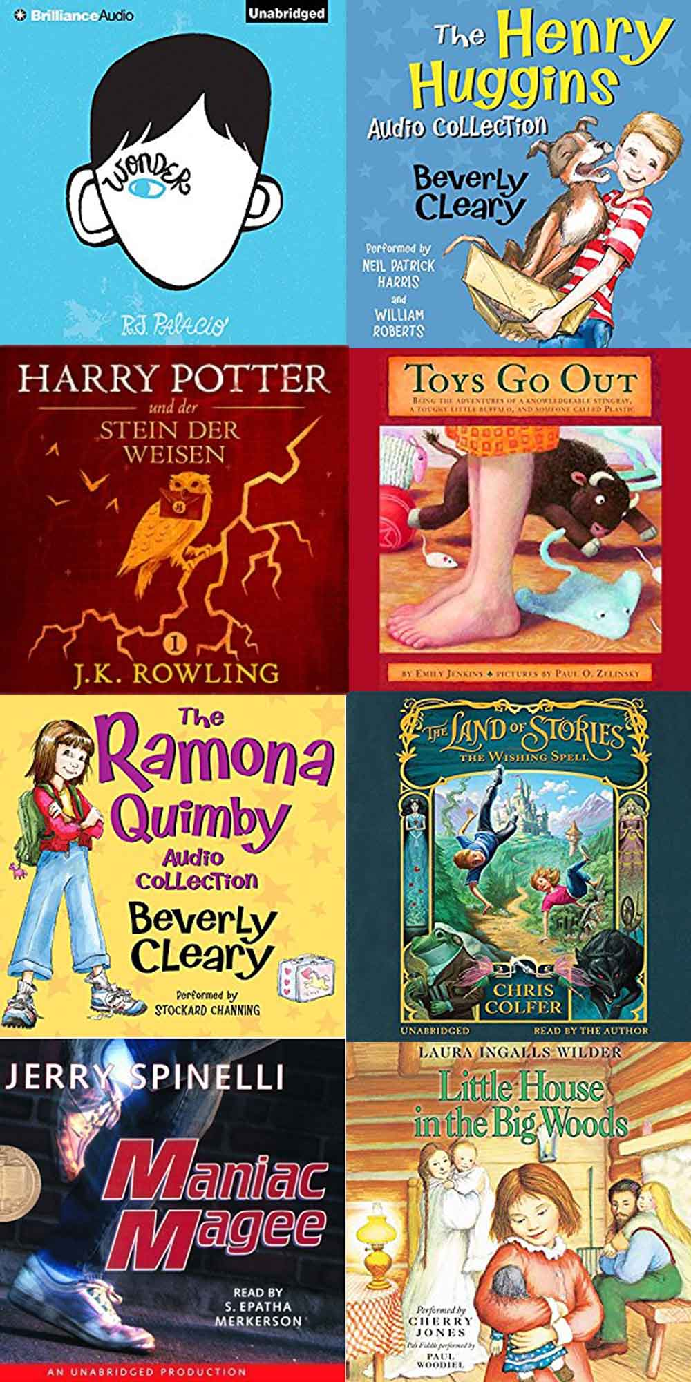 The best audiobooks for family road trips! We've rounded up our very favorite audiobooks to keep the whole family entertained on your next road trip!