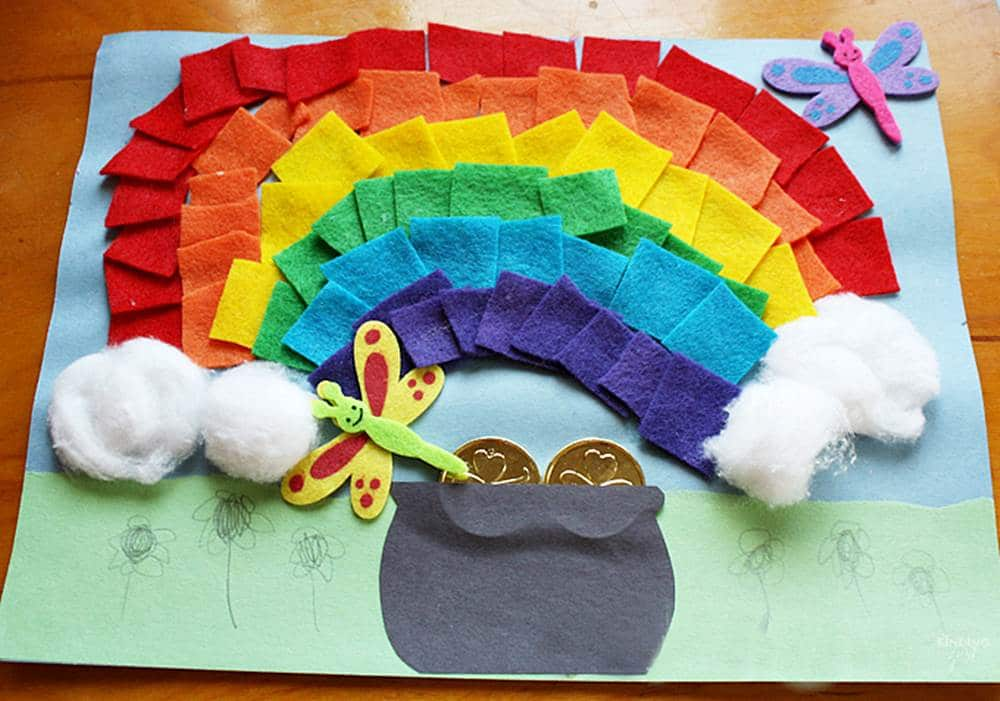 felt rainbow craft
