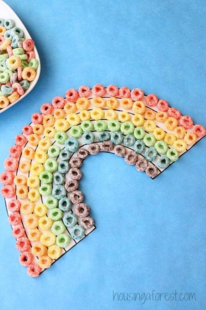 fruit loop rainbow art activities