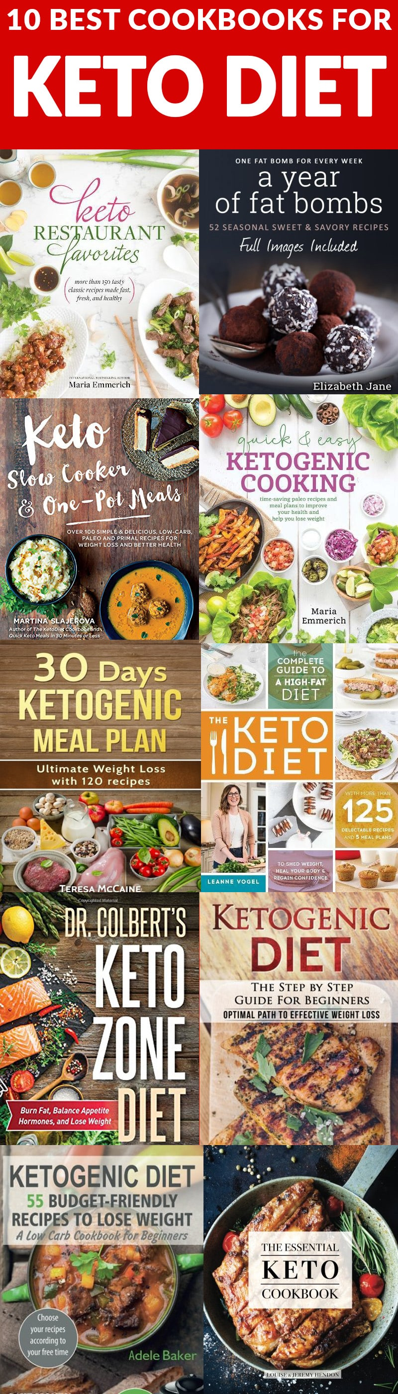 The 10 Best Cookbooks for the Keto Diet. If you're starting a Keto diet and are struggling to find the best recipes, these 10 Keto Diet Cookbooks will get you started with tried, tested and tasty recipes that actually work!