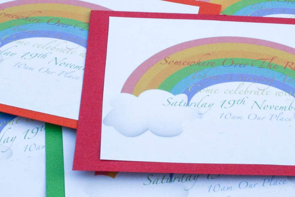 Meraki Mother. Rainbow Theme Party Rainbow Theme invitations