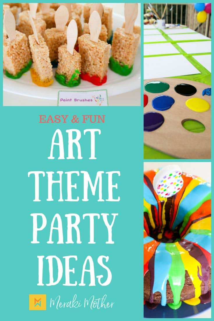 If your child loves color, being creative and getting messy then an art party theme is the perfect birthday celebration. We show you some easy and fun art party food, colorful party favors and art crafts.