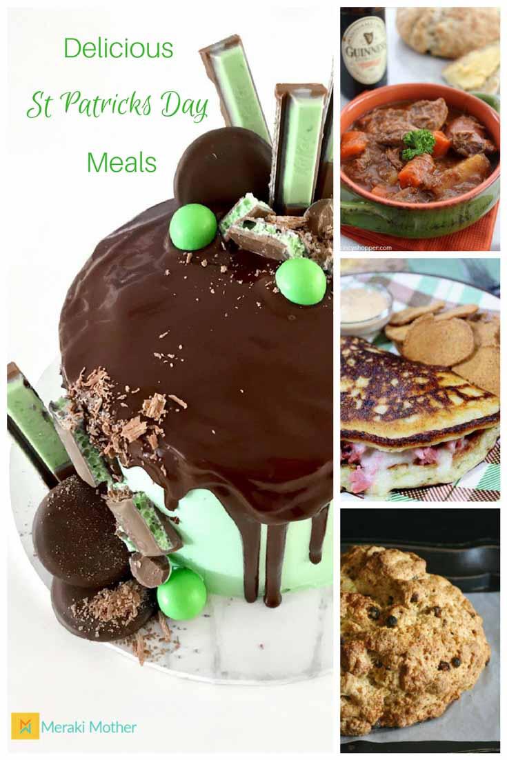 Meraki Mother - Delicious St Patricks Day Meals- Traditional Irish Food - St Patricks Day Dinner - St Patricks Day Breakfast - St Patricks Day Dessert- St Patricks Day Side Dish-