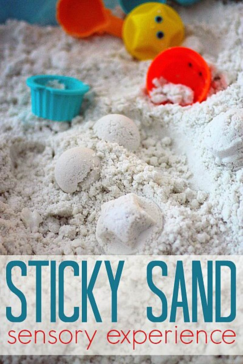 Stick Sand Sensory Bin