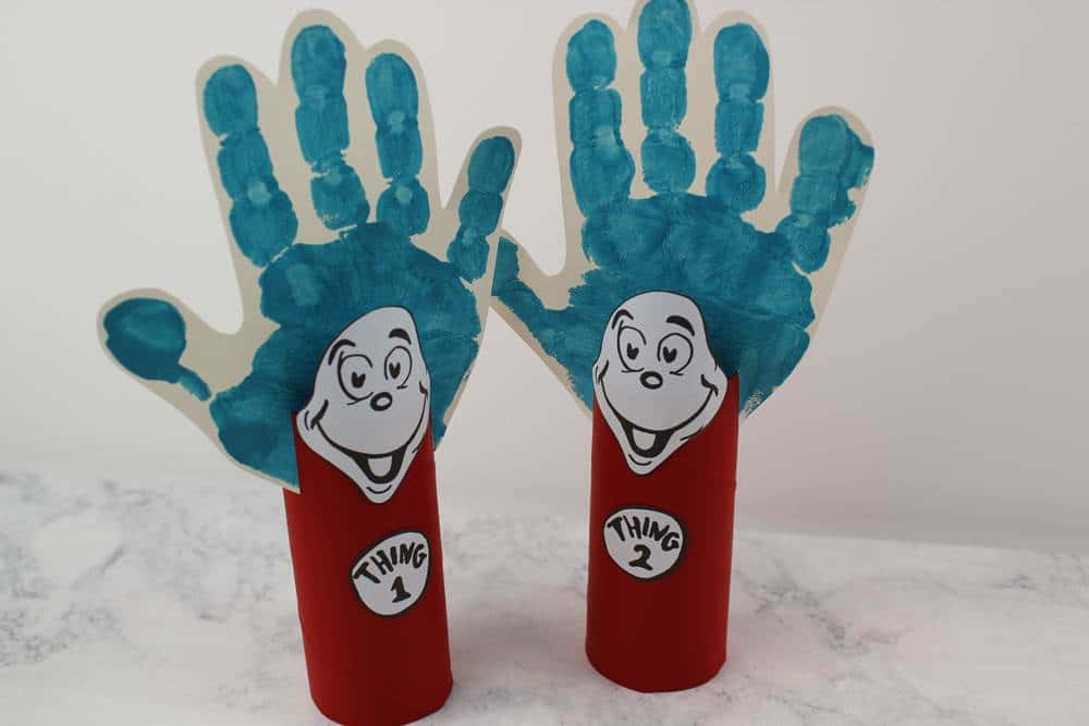 photo relating to Thing 1 and Thing 2 Printable Cutouts called Enjoyable and Very simple Dr. Seuss Cat in just the Hat Crafts - Matter 1 and