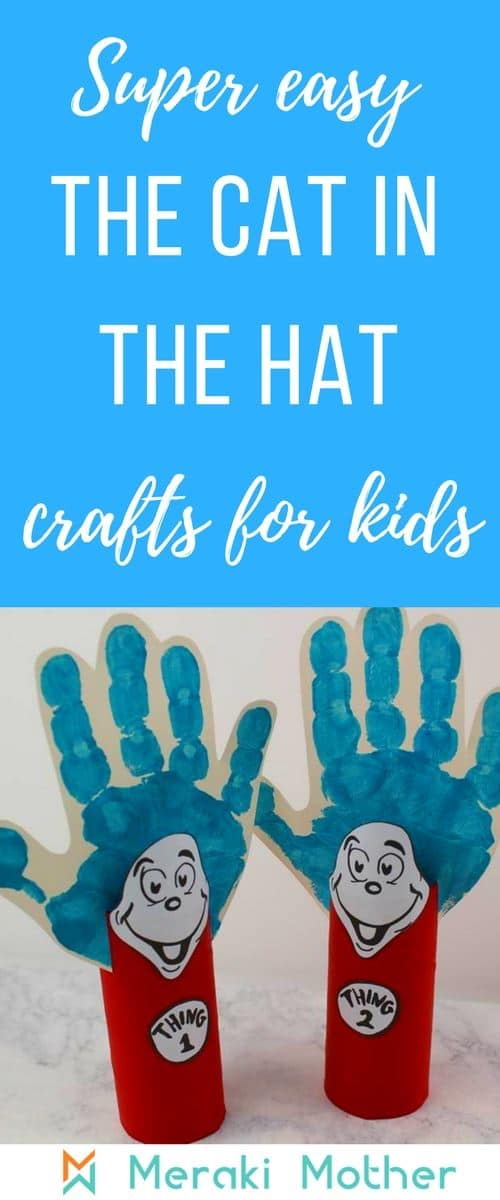 dr seuss preschool crafts with cat in the hat template