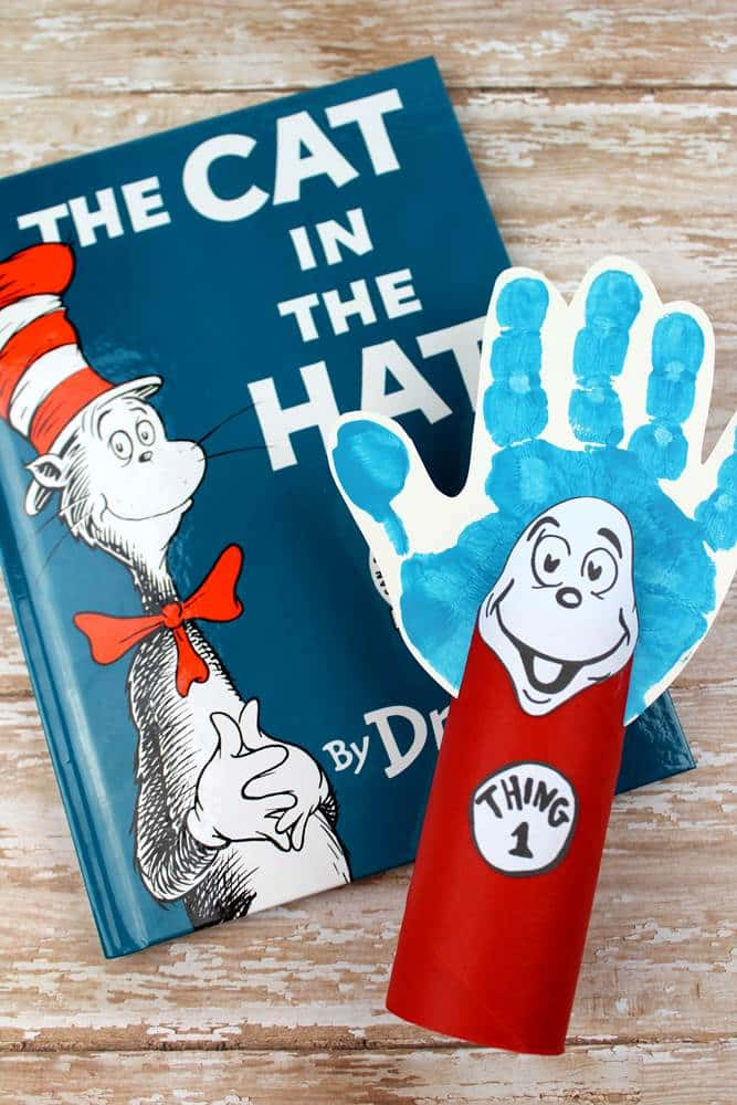 cat in the hat thing 1 and thing 2 crafts