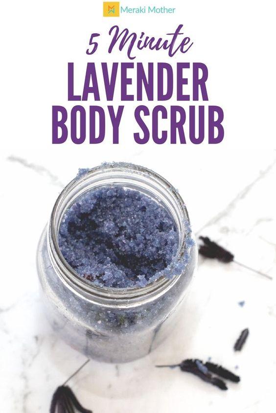 DIY Christmas Gift Lavender Body Scrub