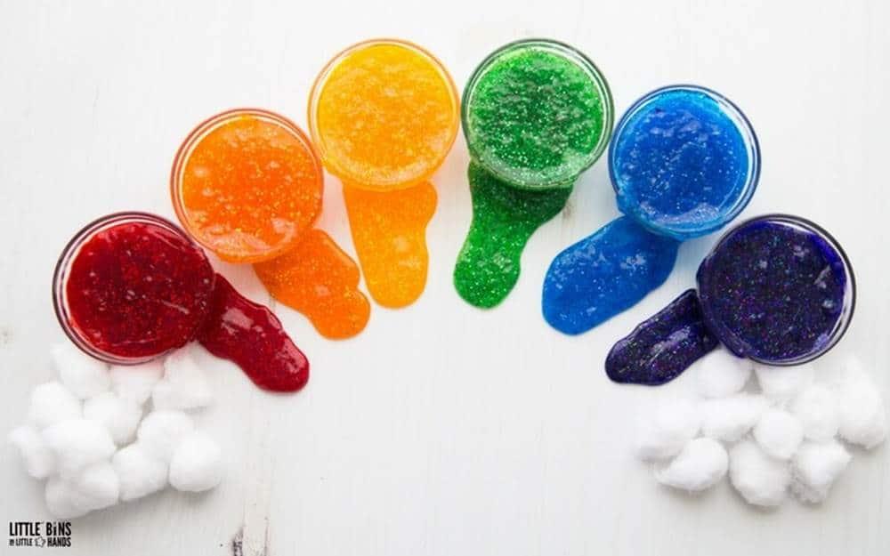 slime rainbow science activities for preschoolers