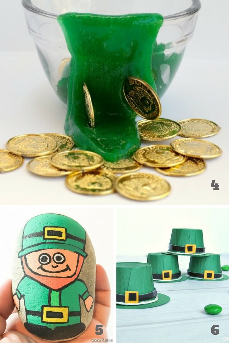 st patrick day theme for preschool crafts with leprechauns