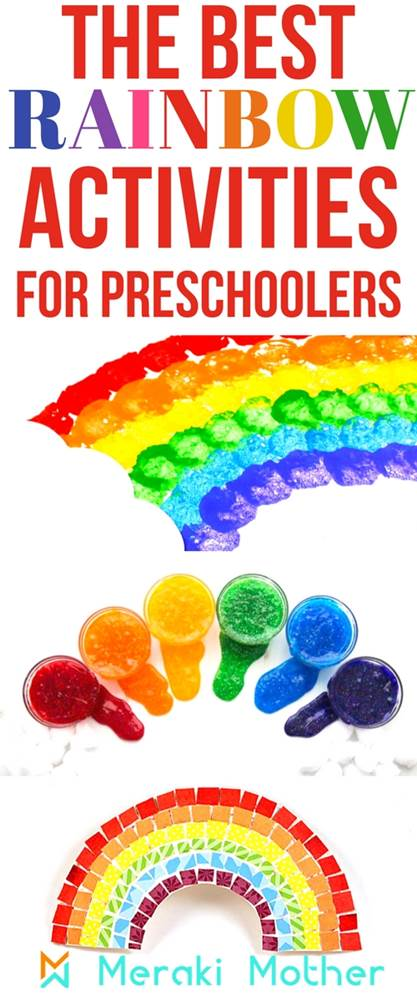 Rainbow activities for preschoolers. The best art and crafts, sensory, fine motor, fruit loop, paper craft and paper plates rainbow crafts to bring hours of fun and learning to the kids. Check our list of 30+ rainbow activities ideas.