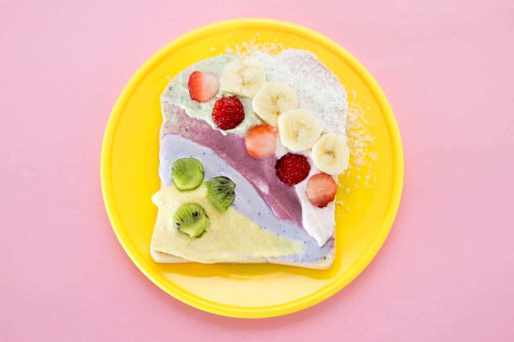 Colorful unicorn Toast cooking with kids- Healthy Food For Children