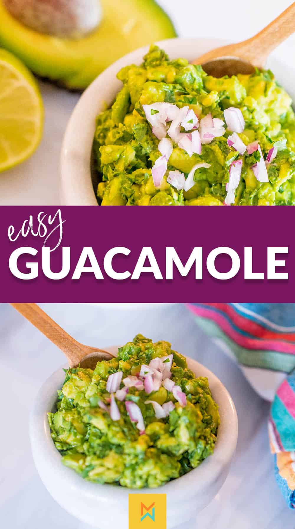 This Easy Guacamole Recipe is simple and delicious. It can go on anything from Fajitas to salads!