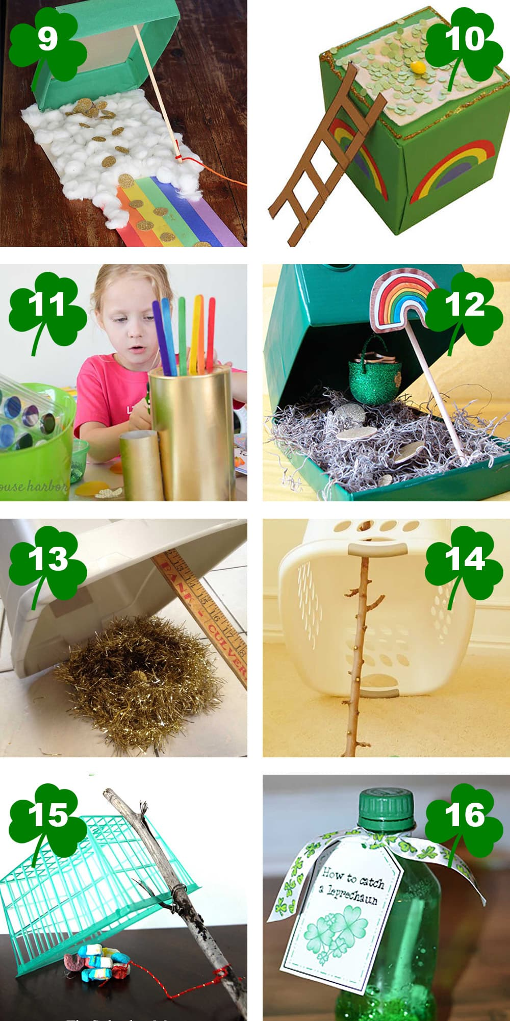 50 Easy Leprechaun Trap Ideas that will have you catching those leprechauns and finding their pot of gold in no time! Merakimother.com