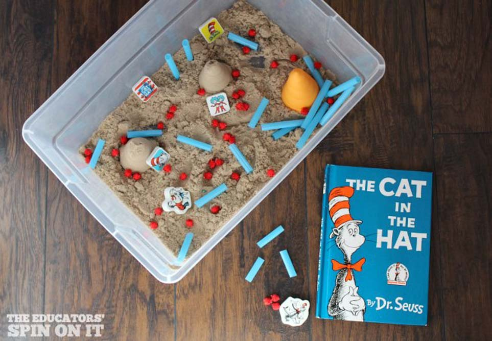Meraki-Mother-dr seuss sensory play, cat in the hat arts and crafts