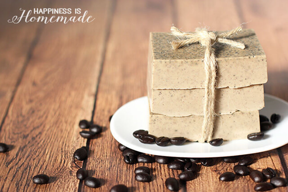 Homemade Mothers Day Gift coffee and milk soap