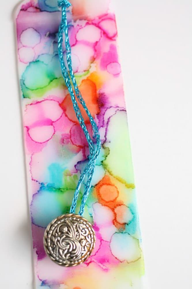 Homemade bookmark watercolour art bookmark