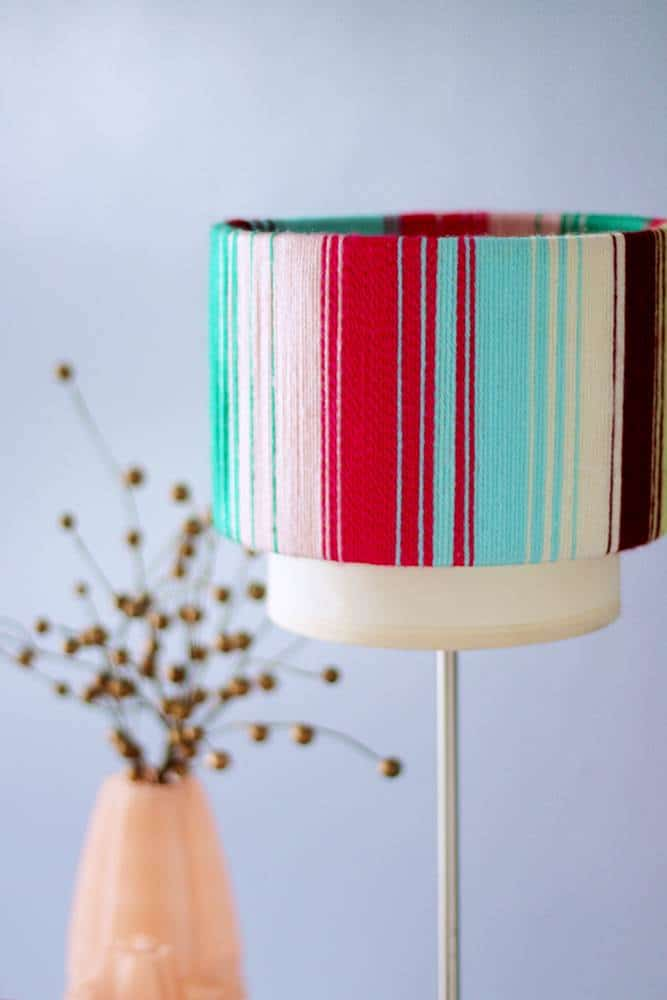 Lampshade before and after - how to redo your old lampshade