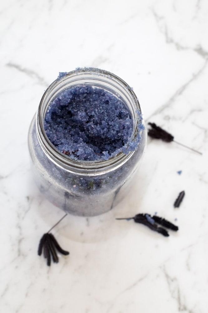 Homemade Lavender Sugar scrub