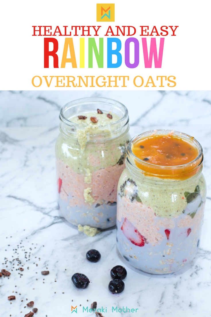 Healthy and Easy Rainbow overnight Oats