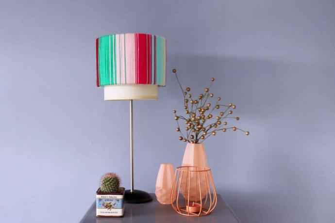 Colorful Lampshades Makeover