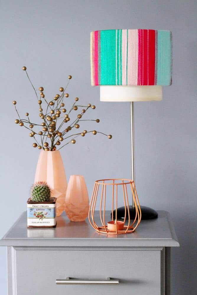 How to recover an old lampshade - DIY easy project