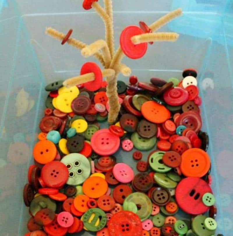 Quiet sensory button tree