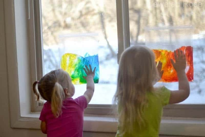 Sun Catcher sensory bag