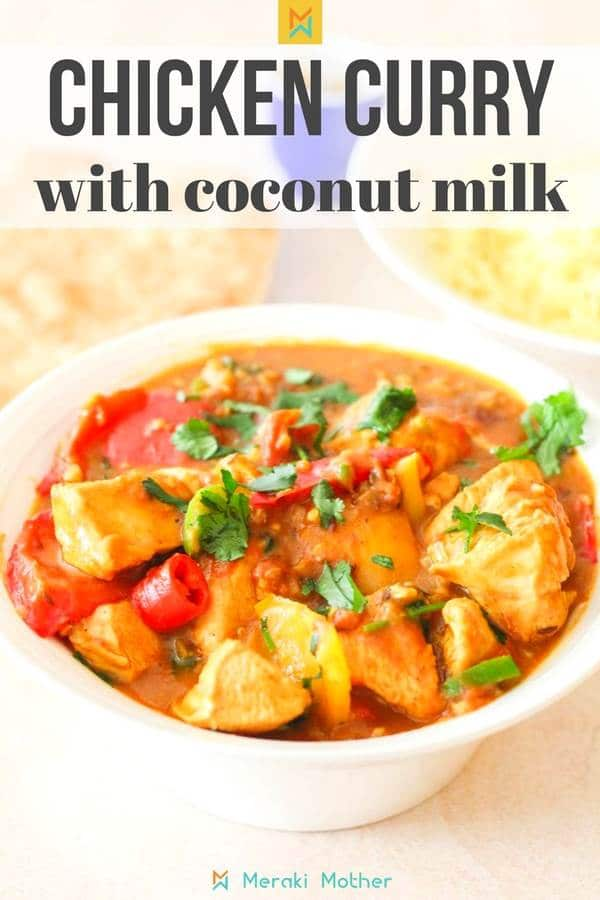 Chicken curry recipe with coconut milk