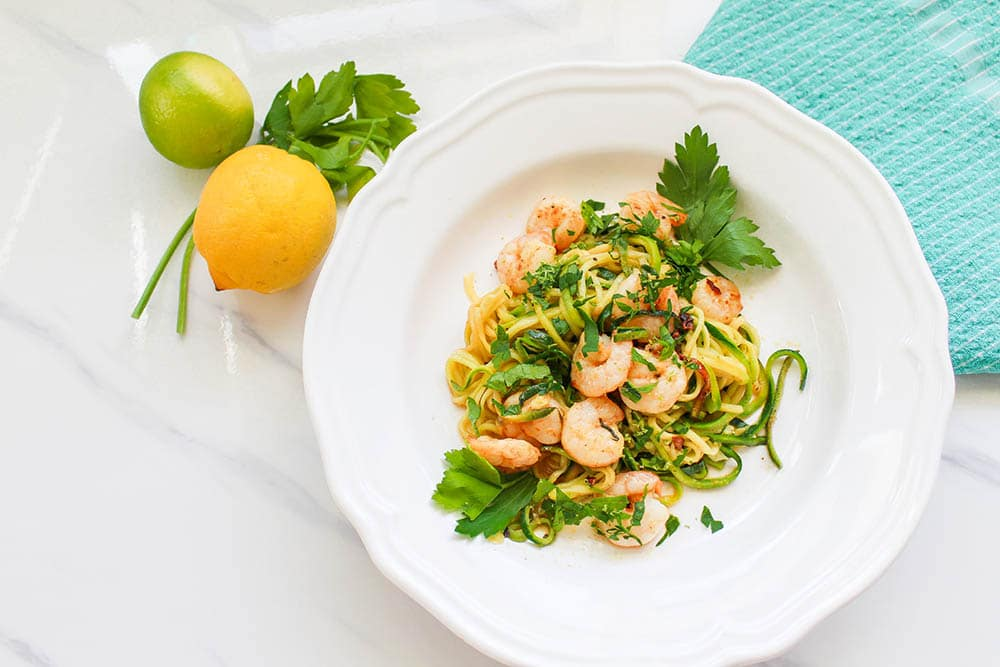 garlic shrimp zucchini noodles