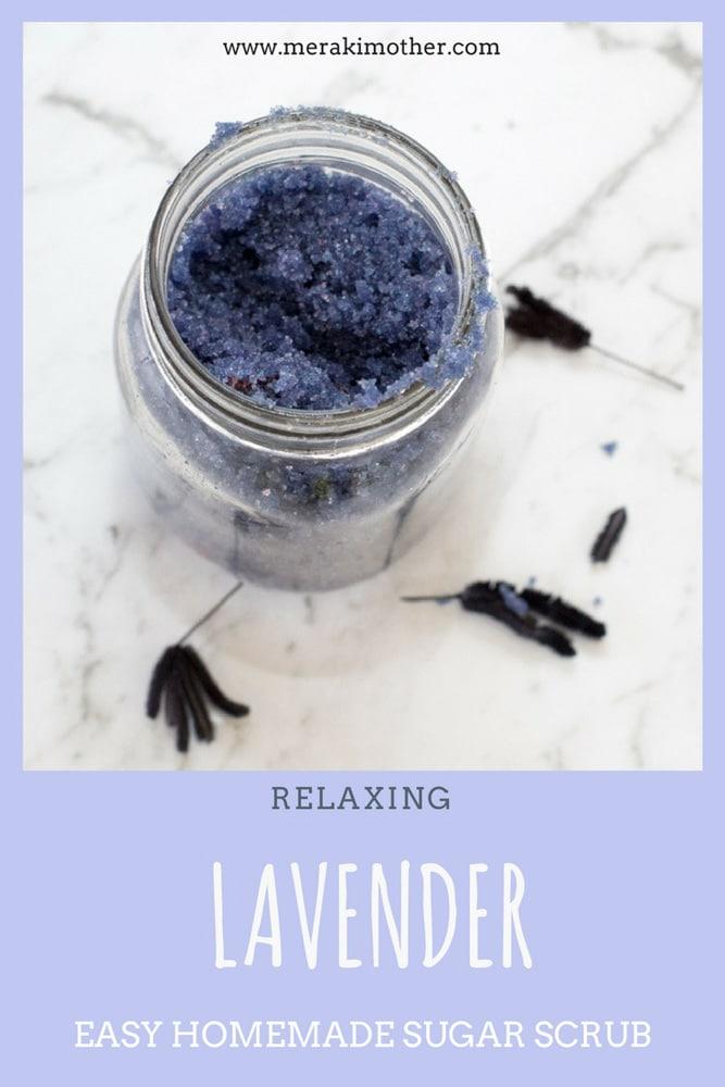Relaxing Lavender Easy Homemade Sugar Scrub