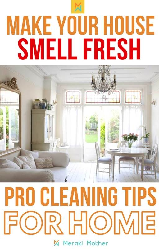 Make your home smell fresh all the time with these pro cleaning tips to freshen up your house. #procleaningtips #makeyourhomesmellgood #cleaningtips