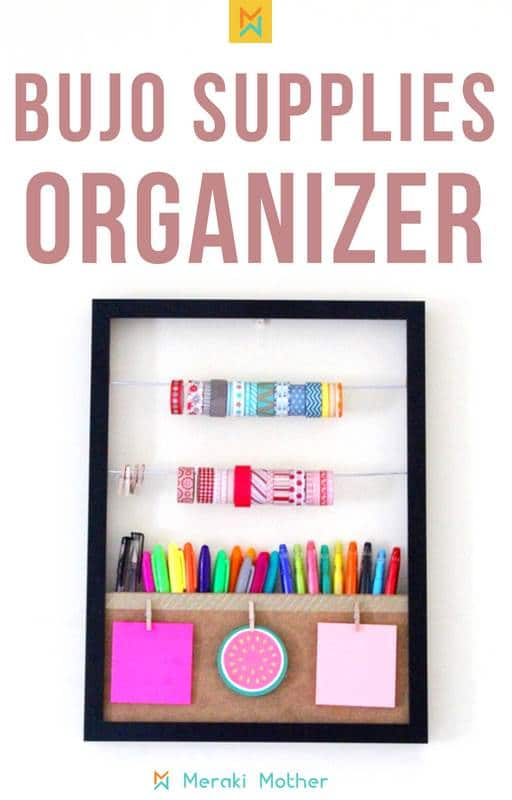 Bujo supply organizer