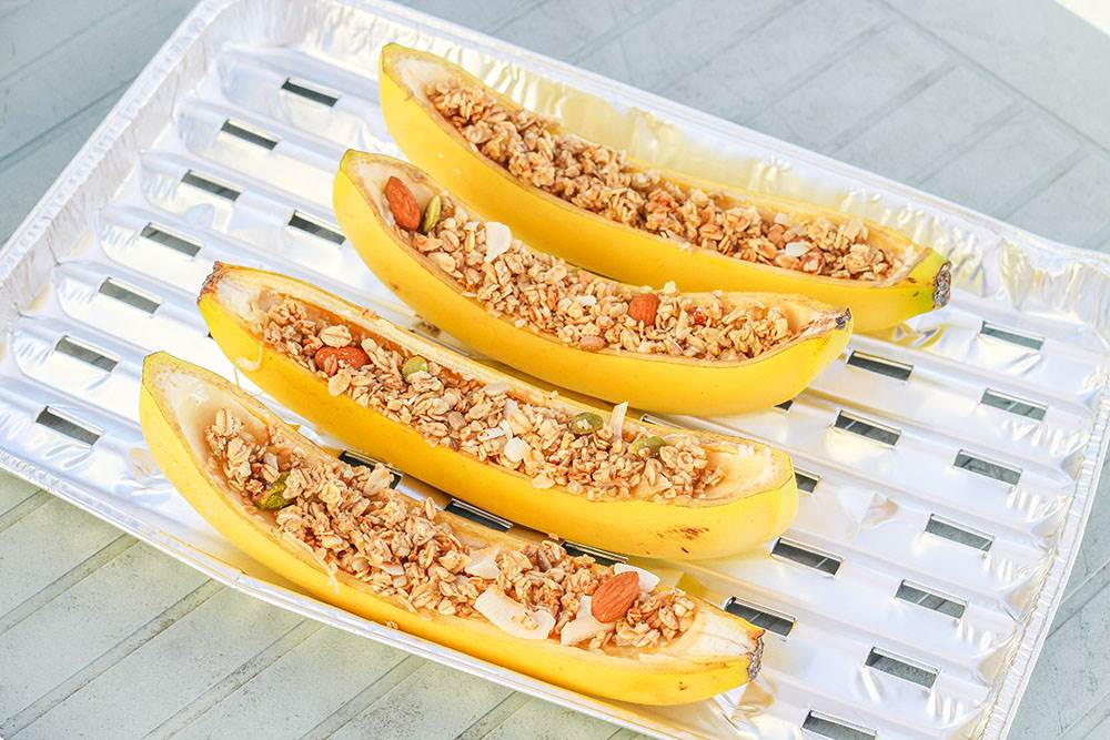 how to make campfire banana boats