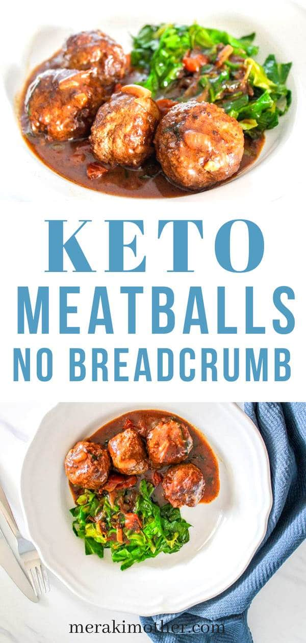 keto meatballs with no breadcrumb