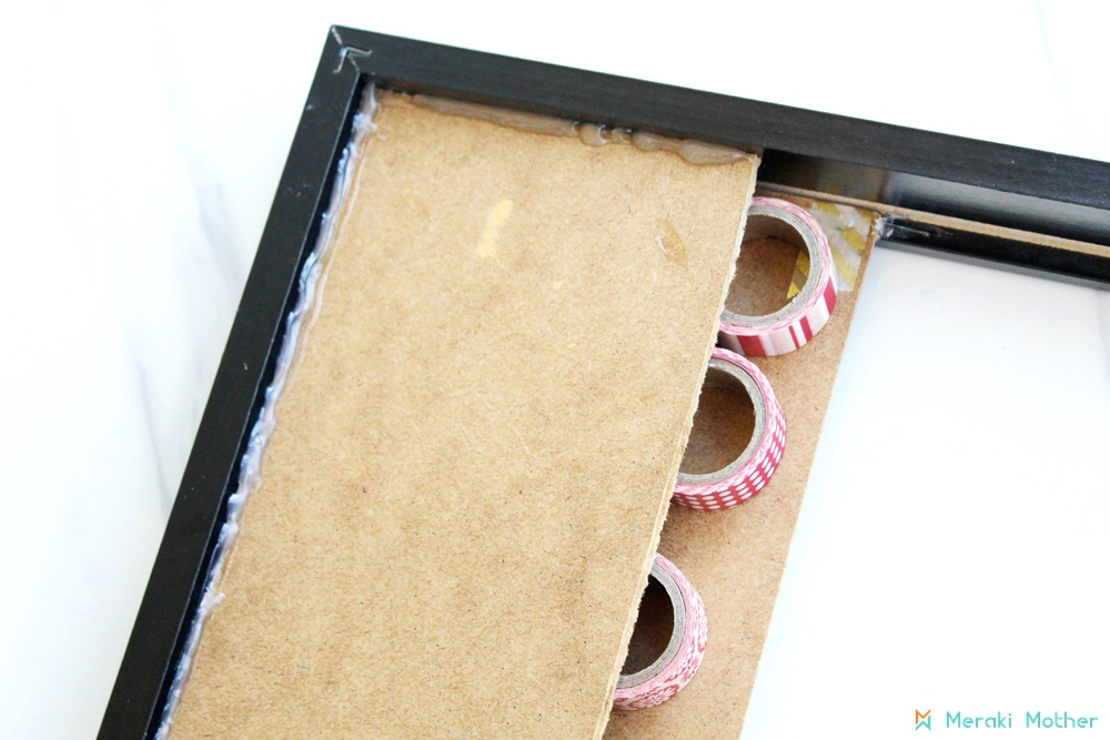 re-purposing old picture frame
