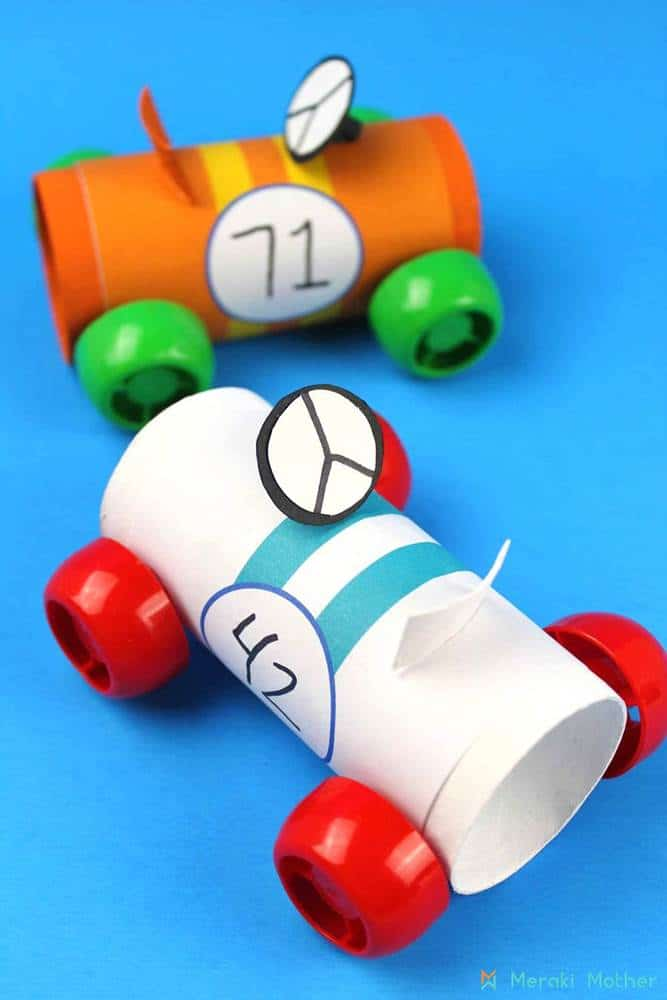 racing car craft for kids