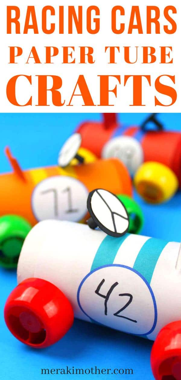 racing cars paper tube crafts