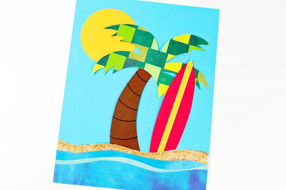 summer weave paper craft for kids