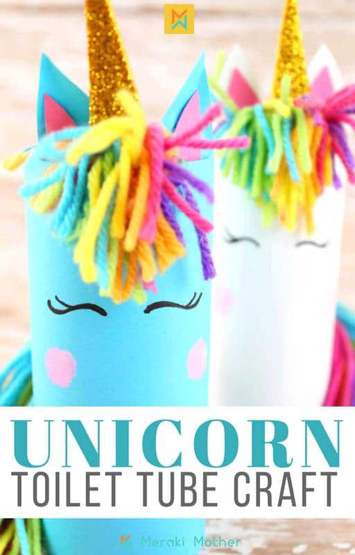 Unicorn toilet tube craft