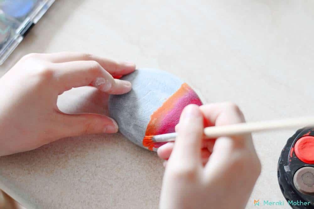 water color paint rocks