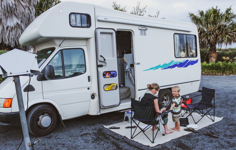Car seat safety in an RV