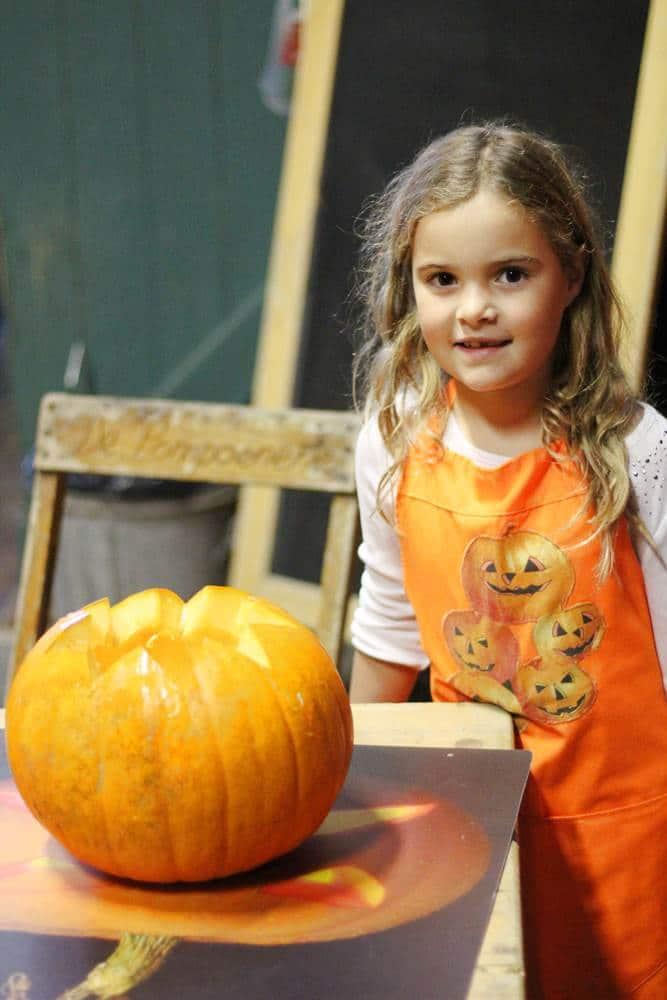 face on the pumpkin
