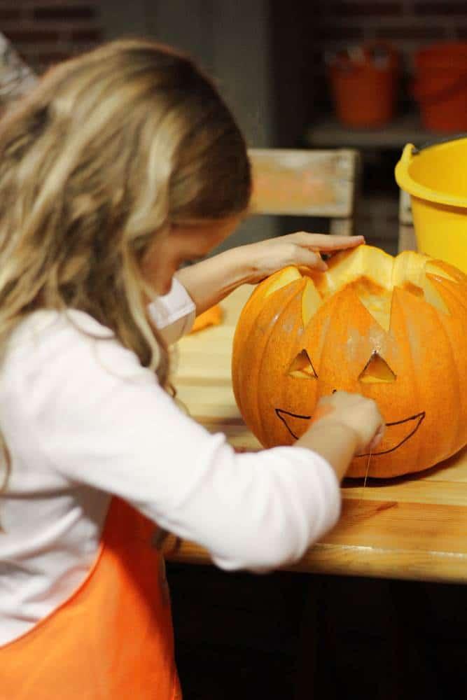 Carving pumpkin nose