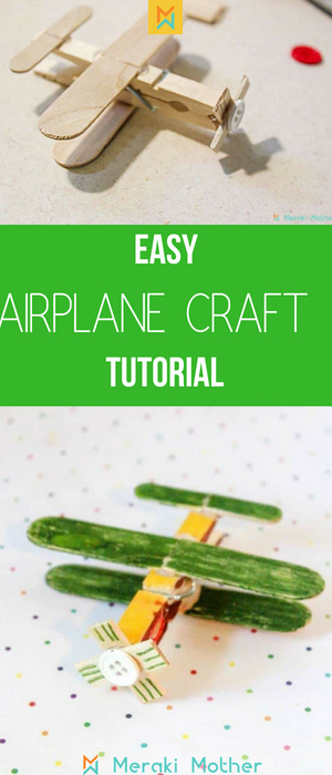 Easy airplane craft tutorial for kids