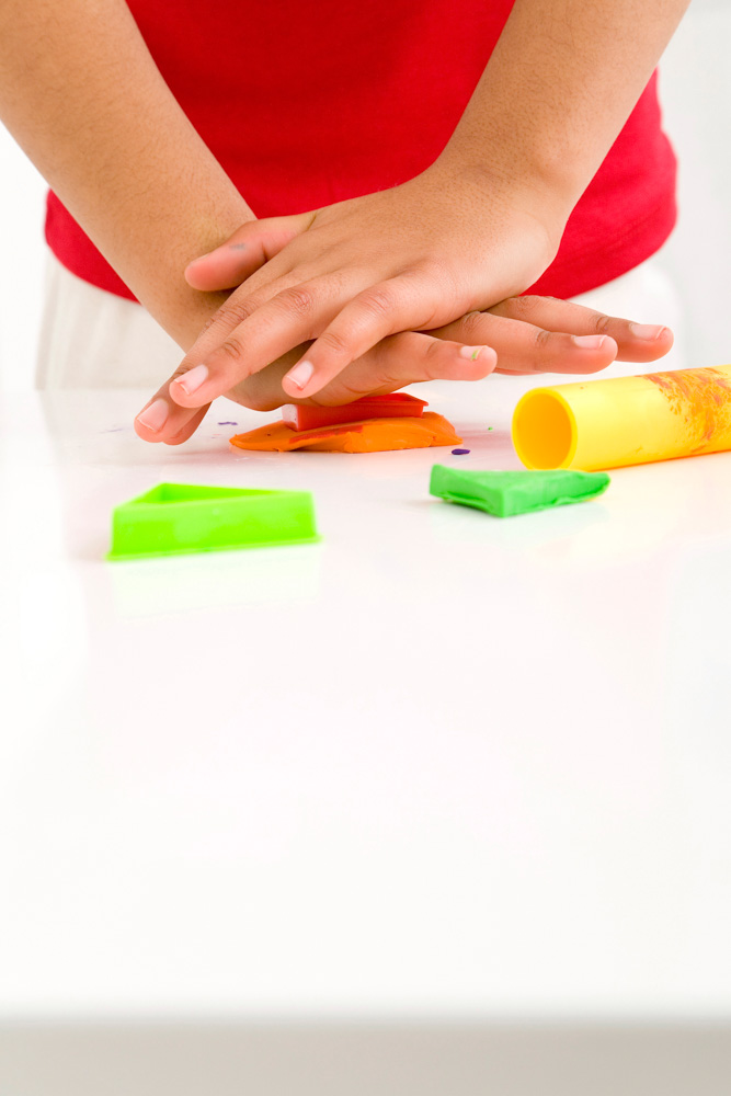 play dough sensory activity