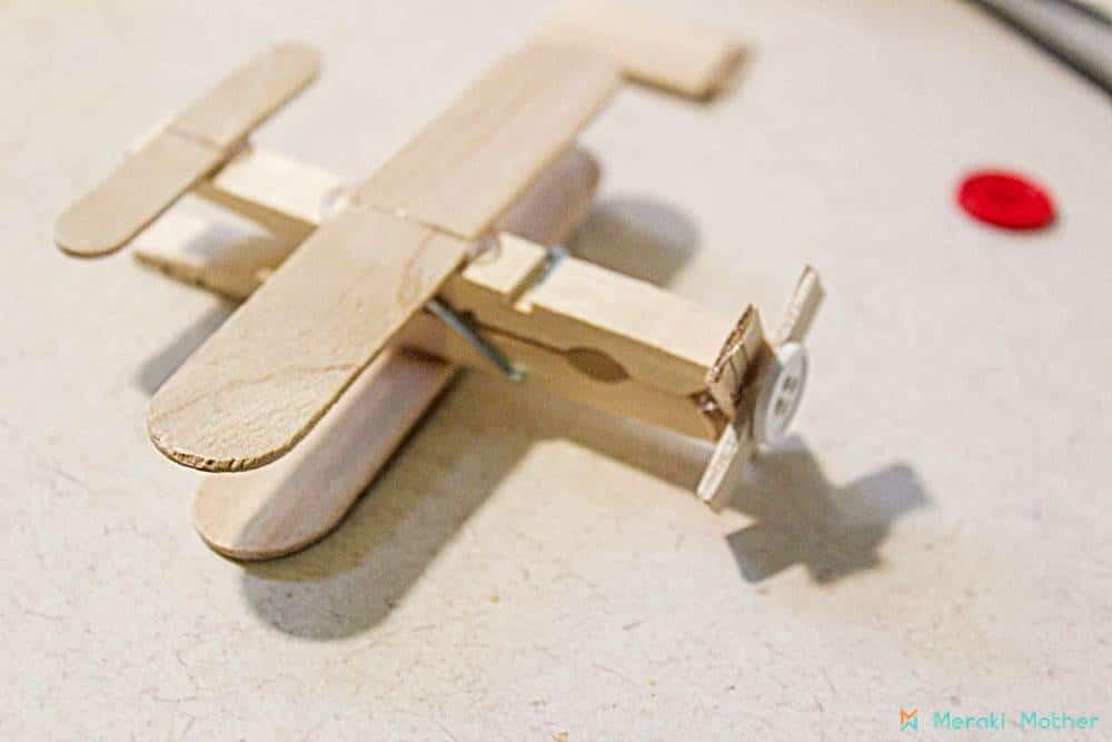 Clothespin Airplane Craft for Preschool - Meraki Mother